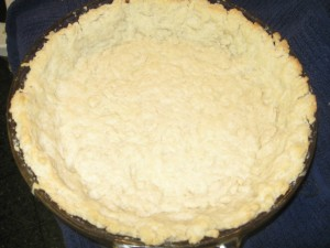 Pickle Pie empty crust after prebaking