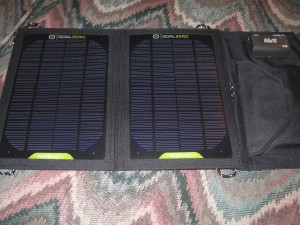Goal Zero Guide 10 portable solar kit panel