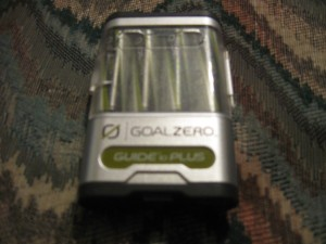 Goal Zero Guide 10 portable solar kit battery pack