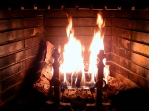 Fireplace Burning as alternative heat