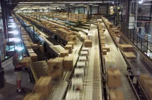 Walmart Distribution Center Conveyor belt