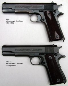 Picture of the 1911 service pistol