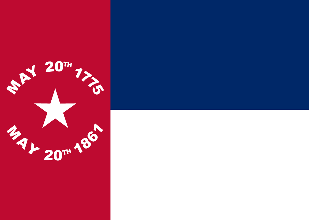 Picture of flag from 155 years ago North Carolina Seceded