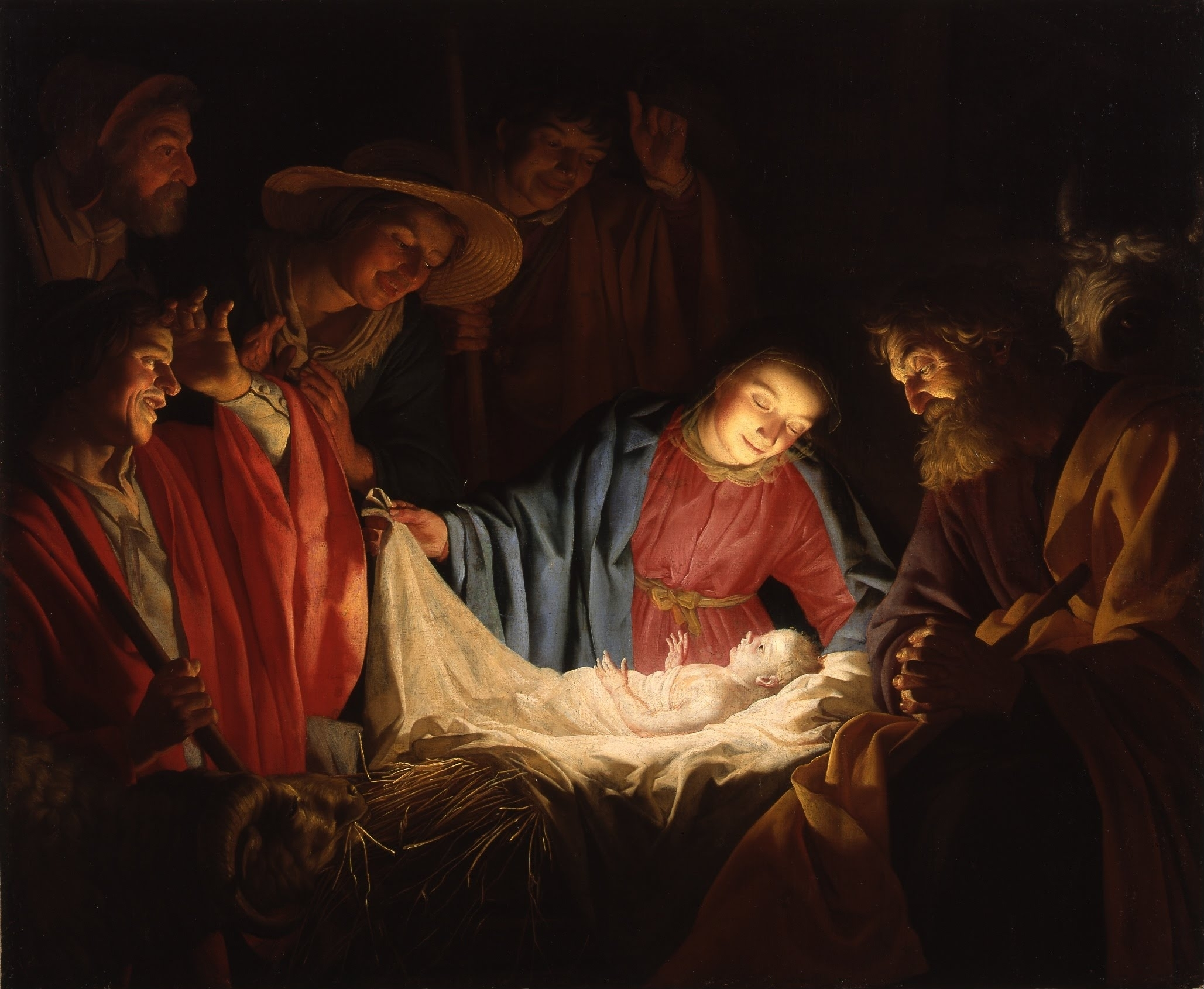 Christmas 2016 picture of Gerard Van Honthorst Adoration of the Shepherds
